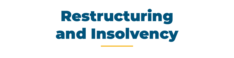 restructuring and insolvency